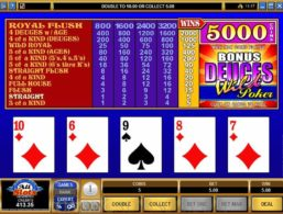 Microgaming – Bonus Deuces Wild Poker