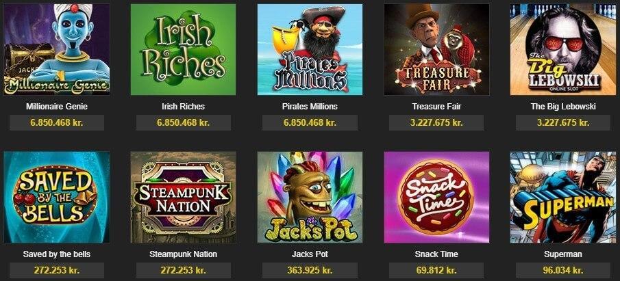 888 jackpot spil og casino spil