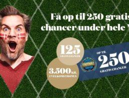 Tivoli Casino hæver sin velkomstbonus under VM med 250 free spins
