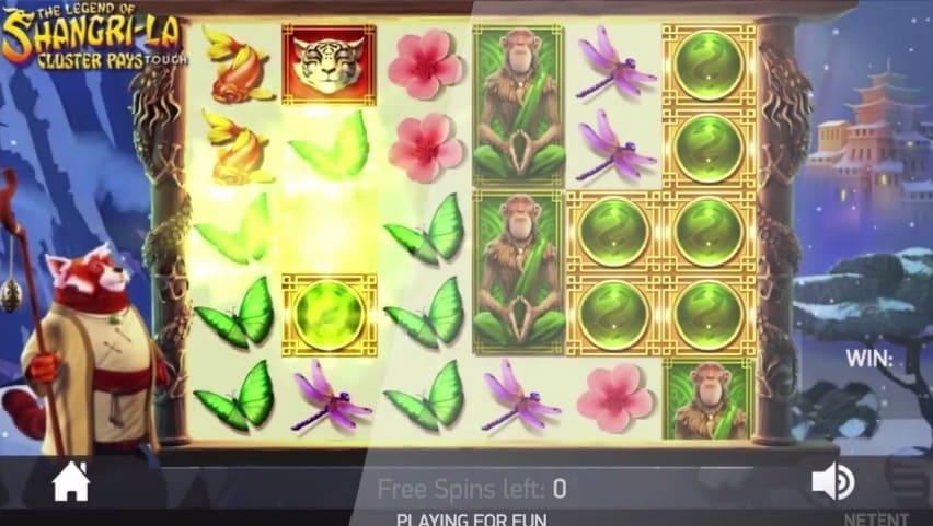 The Legend of Shangri-La free spins feature er et extraspil i NetEnt nye spilleautomat