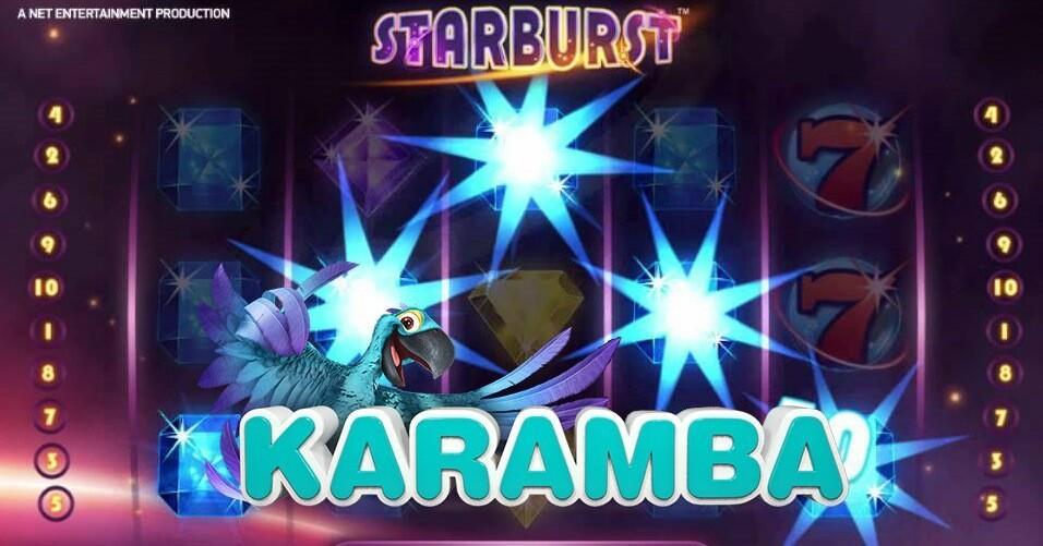 20 gratis free spins i Starburst spilleautomat hos Karamba