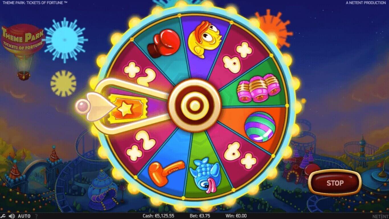 Theme Park af NetEnt har 5 hjul, 3 rækker, 50 gevinstlinjer og mange spændende bonusfunktioner.