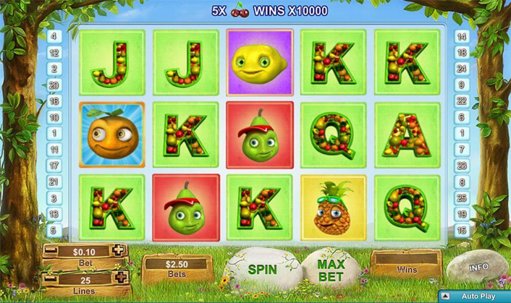 Fruity Friends er en spilleautomat fra NeoGames, hvor du kan få en x10 000 multiplikator!