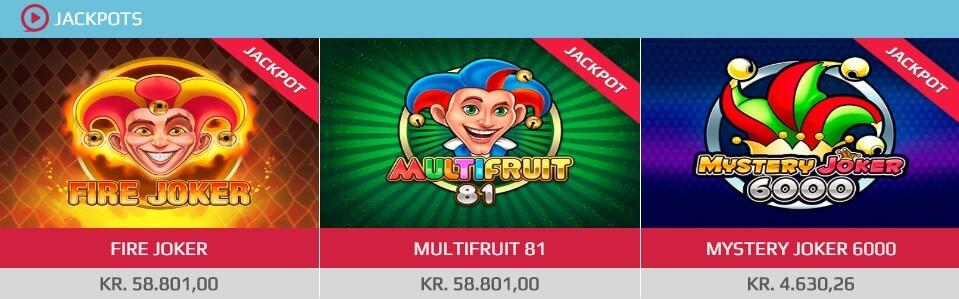 SpilDanskNu har et stort udvalg af gamle og nye jackpotspil.