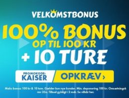 Kaiser Slots-anmeldelse: Få 10 Starburst free spins uden indbetaling