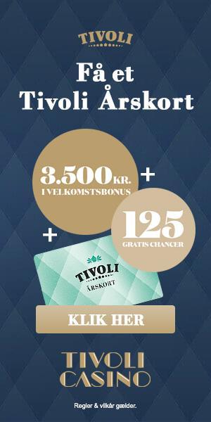 Opdater velkomsttilbud på Tivoli Casino, som nu indeholder en XXX