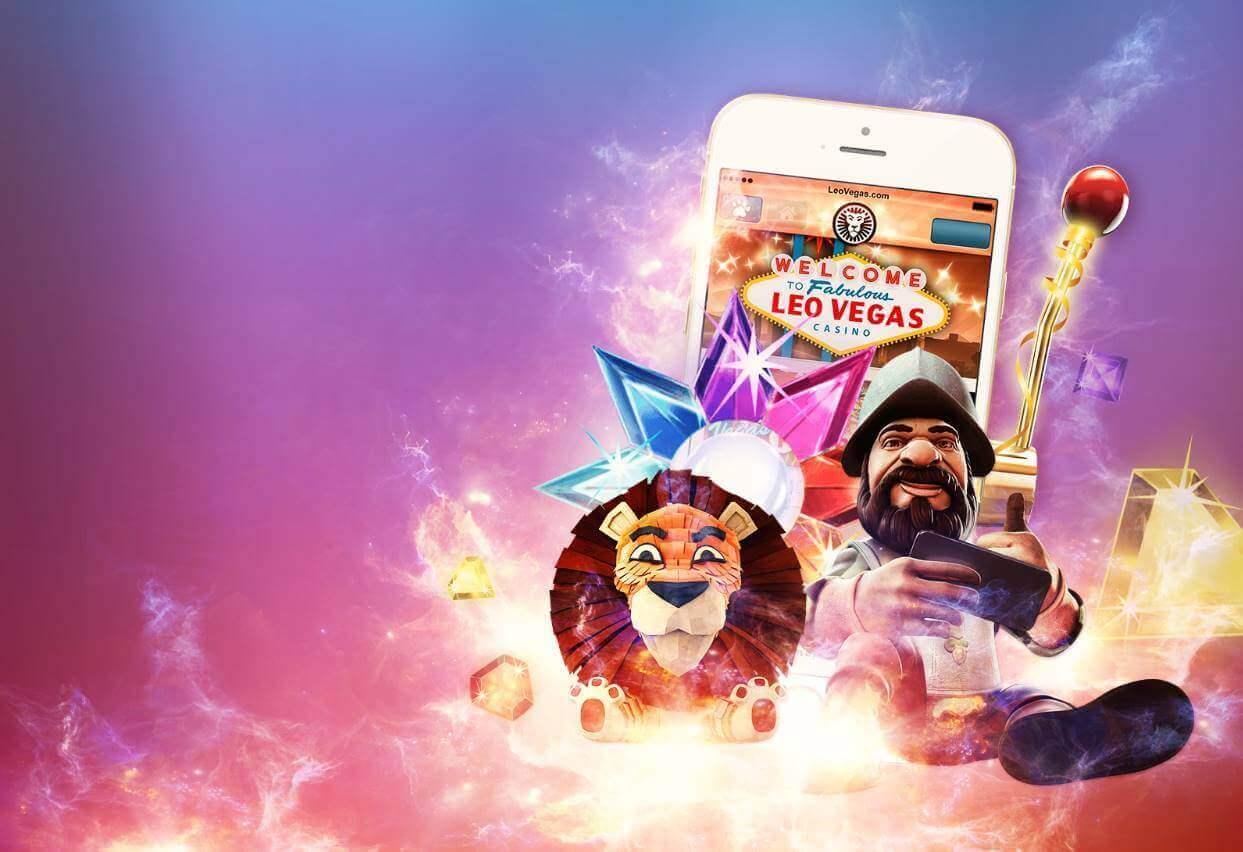 Baggrundsbillede af LeoVegas og Gonzos Quest spillemaskine