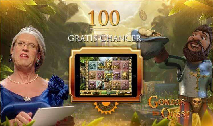 100 gratis spins i Gonzo's Quest og 1500 kr. I velkommen bonus venter nye spillere på Royal Casino i 2019.