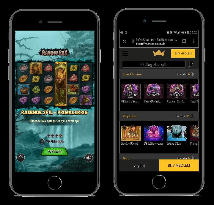 Intercasino har begge en App og et fremragende mobil casino.