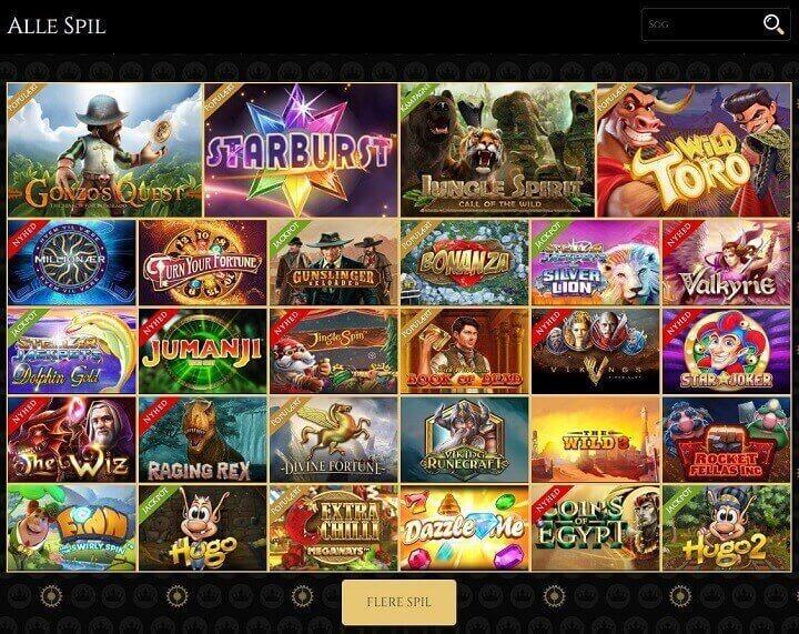 Royal Casino har spilleautomater fra mange forskellige spiludbydere som Thunderkick, ELK og NetEnt.