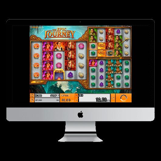 Skærmbillede af The Epic Journey spilleautomat af Quickspin.