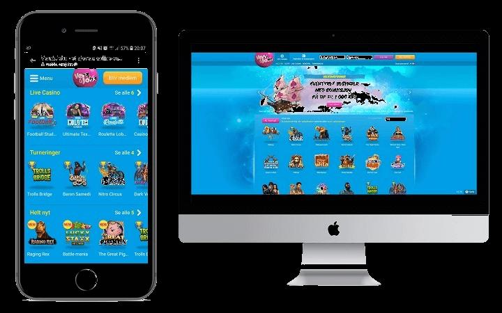 Jeg kunne godt lide at spille den mobile version af Vera & Johns casino. Ikonerne i spillene var meget bedre egnet.