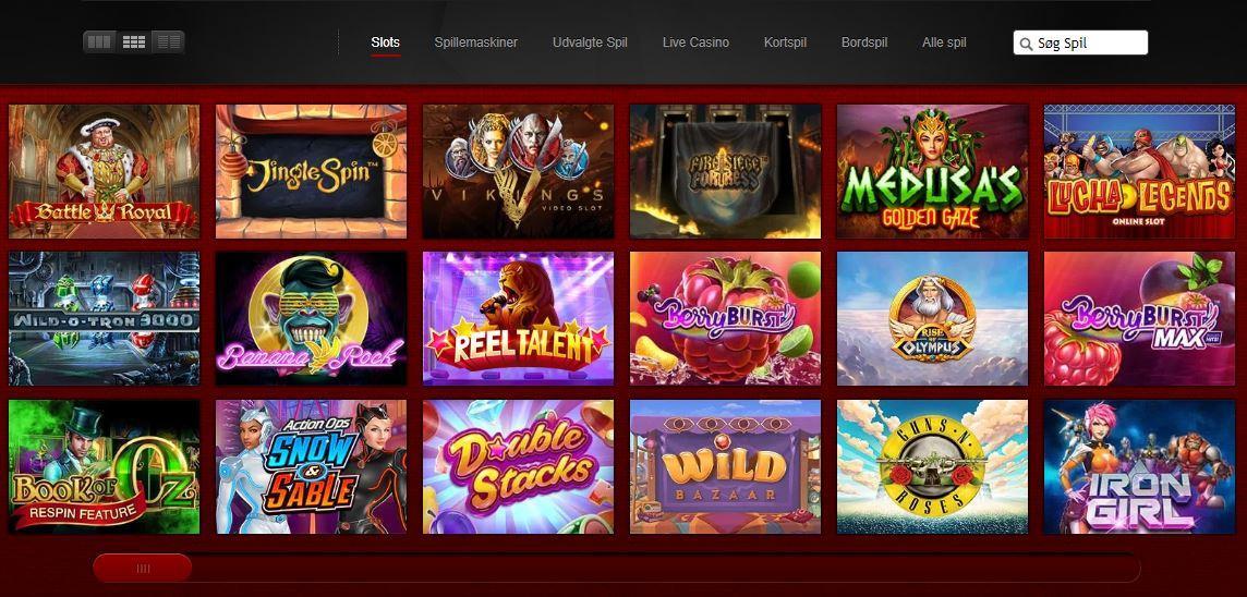 skærmbillede af spilleautomater på betsafe