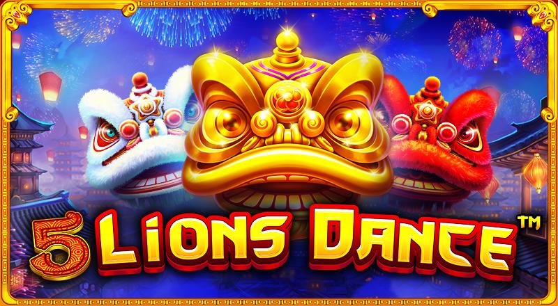 5 Lions Dance spillemaskine fra Pragmatic Play
