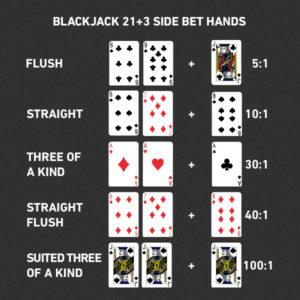 21+3 blackjack sidebets