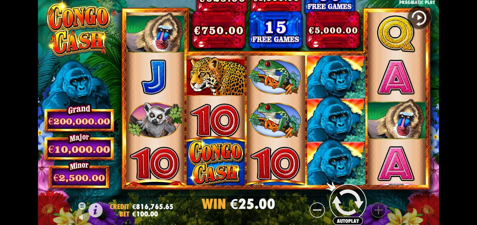 Congo Cash spillemaskine gameplay