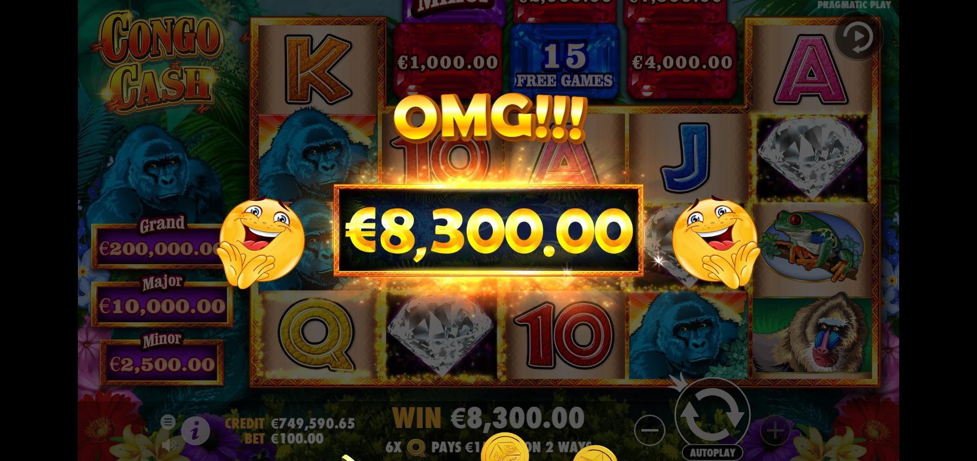 Congo Cash spillemaskine gevinst