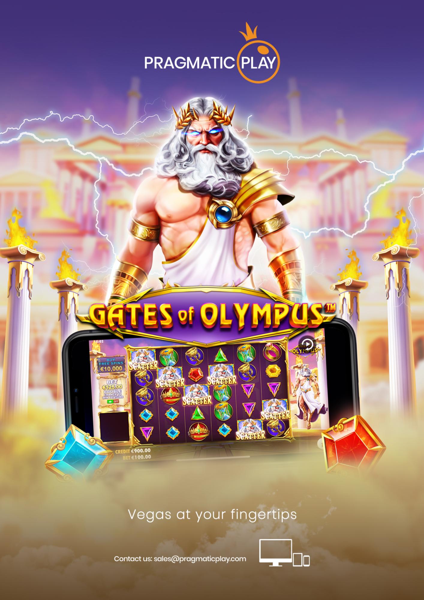 Gates of Olympus reklameposter