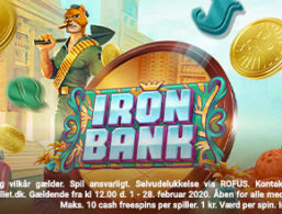 10 Free spins til Iron Bank hos LeoVegas