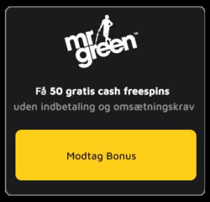 Mr Green cash spins