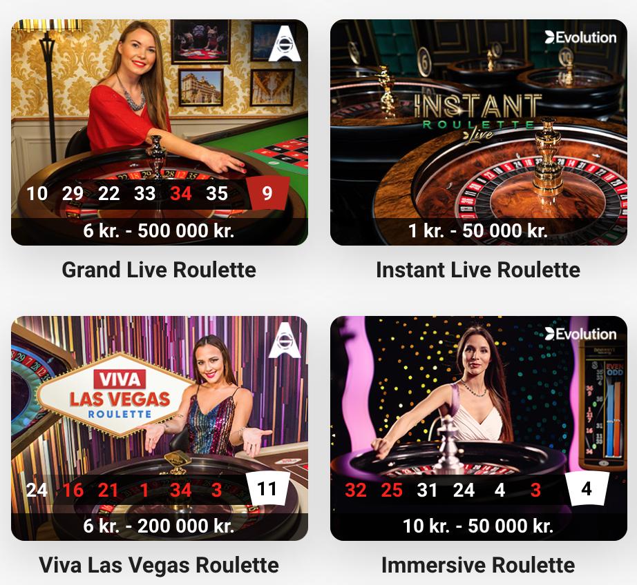 Forskellige roulette varianter
